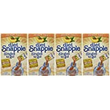 Diet Snapple Singles to Go Peach Tea (6 Sticks in each box) 4 BOXES