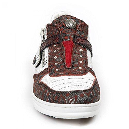 Nuovi Stivali Di Roccia M.hy031-r9 Scarpe Sportive Hardrock Urbano Sicurezza Punk Signore Rosse