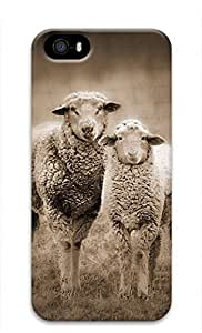 iCustomonline iPhone 5 5s A Pair of Sheep 3D Back Skin Case Cover for iPhone 5 5s wangjiang maoyi