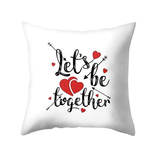 SEGRJ 1 Unid Funda de Almohada Amor Romántico Corazón Carta ...