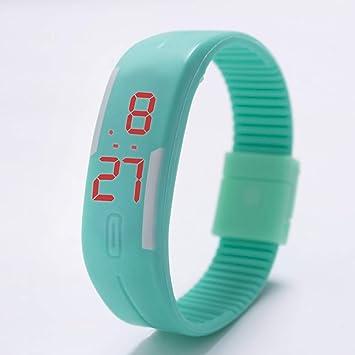 Zxzays Relojes LED para niños Fecha Pulsera Reloj de Pulsera Deportivo Digital para Estudiante Reloj Deportivo Reloj para Mujer Candy Color Reloj de Goma, ...