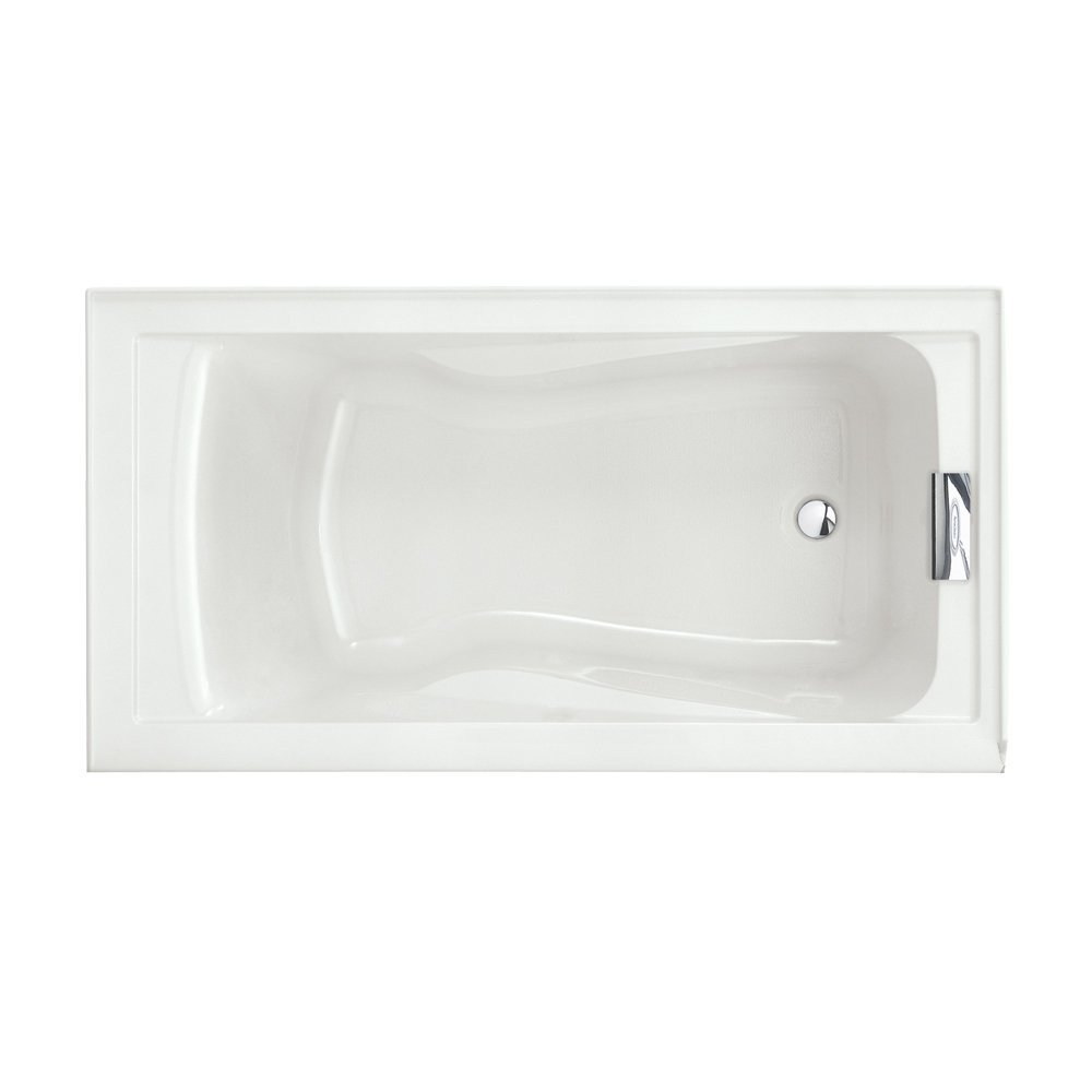 American Standard 2422V002.020 Evolution Deep Soaking Tub with Reversible Drain, 5 ft x 32 in, White