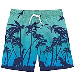 Funnycokid Boys Swim Trunks Quick Dry Kids Water Resistant Beach Board Shorts 4-12 Years