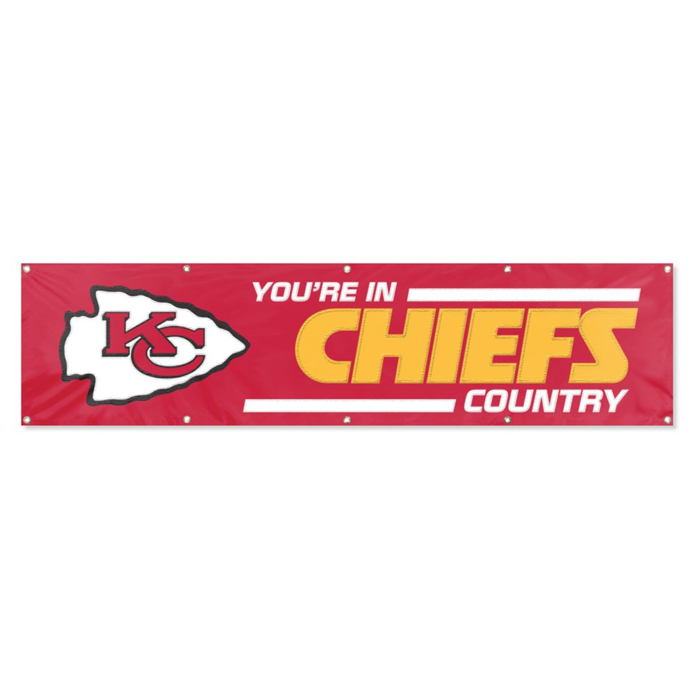 Party Animal Kansas City Chiefs 8'x2' NFL Banner