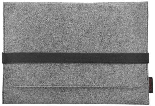 EasyAcc Macbook Air 13.3 Zoll Filz Sleeve Hülle Ultrabook Laptop Tasche für Apple Macbook Air 13 und vieles mehr (13.3 Zoll, Farbe: Grau, Größe: 340 mm x 240 mm x 8 mm)