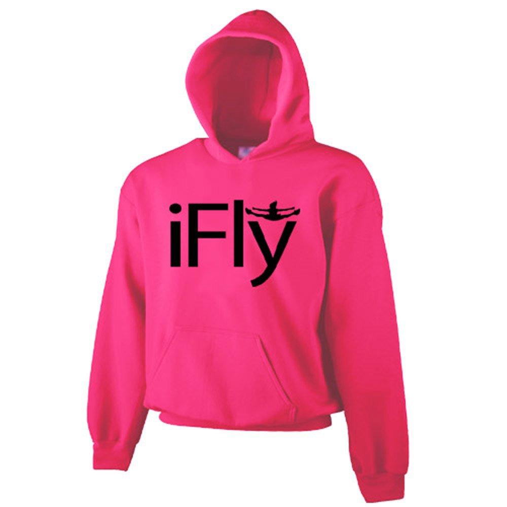 Chosen Bows Hot Pink iFly Hoodie- Black Print