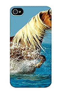 LcTJaLw4829ddpSo Premium Horse In The Water Back Cover Snap On Case For Iphone 4/4s