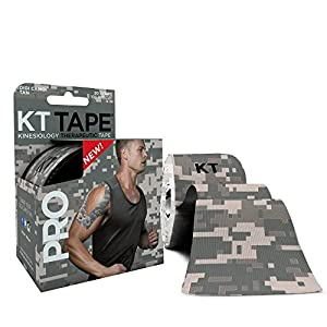 KT TAPE PRO Elastic Kinesiology Therapeutic Tape - 20 Pre-Cut 10-Inch Strips (Digital Camo)