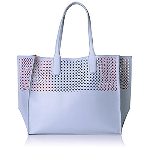 emilie-m-la-mar-perforated-tote-sky-blue-melon-one-size
