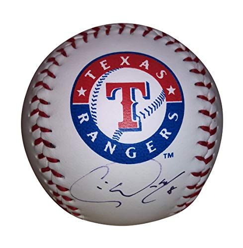Texas Rangers Chris Woodward Autographed Hand Signed Logo Baseball with Proof Photo of Signing and COA
