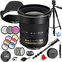 Nikon 12-24mm F/4G ED-IF AF-S DX Zoom-Nikkor Lens with 77mm Filter Sets Plus Accessories Bundle
