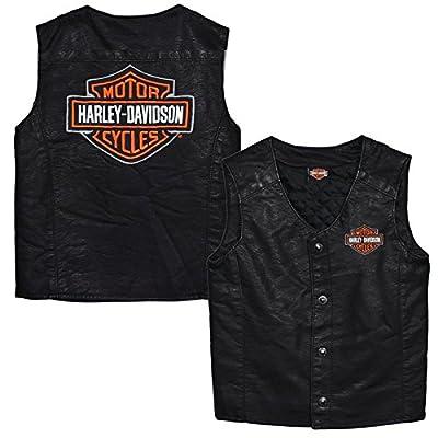 Harley-Davidson Little Boys' Bar & Shield PU Pleather Biker Vest 0276072