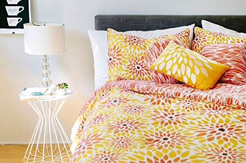 Vita Good Life IVTVITA03339 Multiple Piece Reversible Comforter Set, Queen, Girasol, 7 - Flower Burst Comforter
