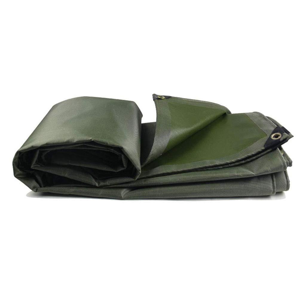ターポリン アイレット付き防水レインキャンバス防水ターポリン日焼け止めひさし布地面カバー、550g /m²グリーン (サイズ さいず : 3mx5m) B07SCX3L5J  3mx5m