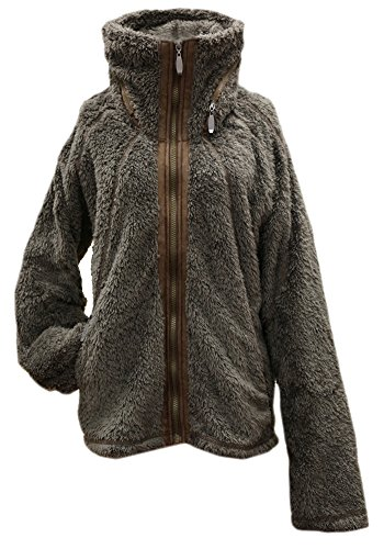 Apparel No. 5 Women's Sherpa Fleece Full Zip Warm Winter Jacket (X-Large, Mushroom)