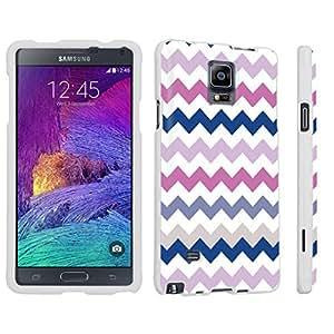 DuroCase ? Samsung Galaxy Note 4 Hard Case White - (Multi Color Chevron)