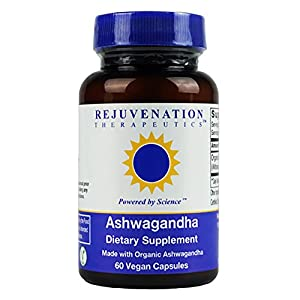 512kWSkqq8L. SS300  - Rejuvenation Therapeutics - Organic Ashwagandha, Natural Anxiety Relief (60 Vegan Capsules, 500mg)
