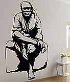 Asmi Collection Pvc Wall Stickers Sai Baba