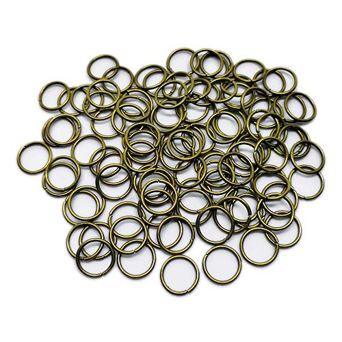 Beading Station 100-Piece Open Jump Rings for Jewelry Making, 10mm, Antique Bronze