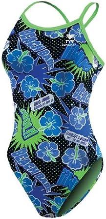TYR Sport Girls Comic Strip Ringback Swim Suit
