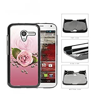 Rose Flower And Pearls In Pink Gradient Hard Plastic Snap On Cell Phone Case Motorola Moto X
