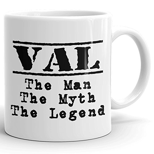 Best Personalized Mens Gift! The Man the Myth the Legend - Coffee Mug Cup for Dad Boyfriend Husband Grandpa Brother in the Morning or the Office - V Set 1