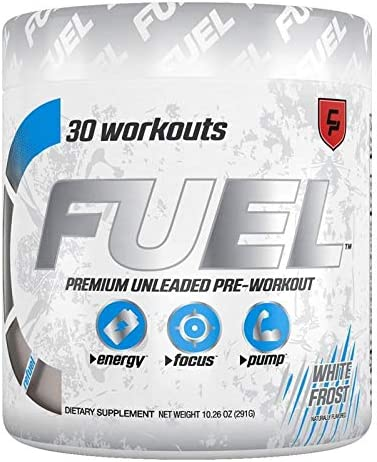 Fuel Pre Workout Powder White Frost Monstr Natural Healthy Ultra Energy Drink, Creatine, Caffeine, Improve Workouts, Men Women, Keto, Nitric Oxide, Endurance, Pump, Safe, Best Tasting, Sugar Free