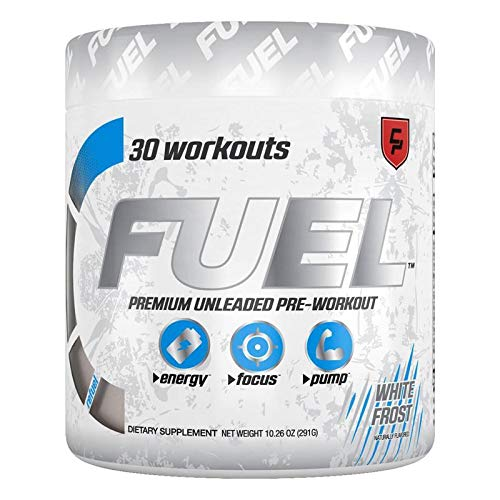 Fuel Pre Workout Powder (White Frost Monstr) Natural Ultra Energy Drink w/ Creatine & Caffeine to Enhance Workouts Creatine for Men and Women, Keto, Nitric Oxide, Endurance, Pump, Safe & Healthy