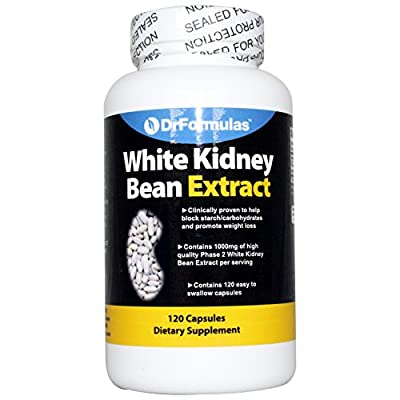 DrFormulas White Kidney Bean Extract Carb Blocker & Appetite Suppressant/Control | Weight Loss Pills for Women & Men Supplements, 1000 mg 120 Capsules