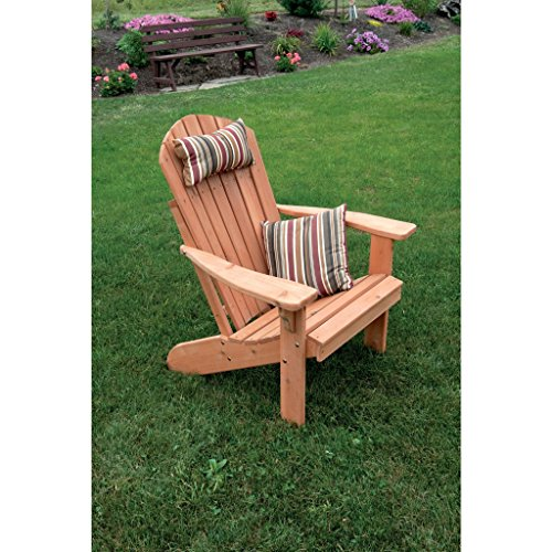 A & L FURNITURE CO. Western Red Cedar Fanback Adirondack (Red Cedar Adirondack Rocking Chair)