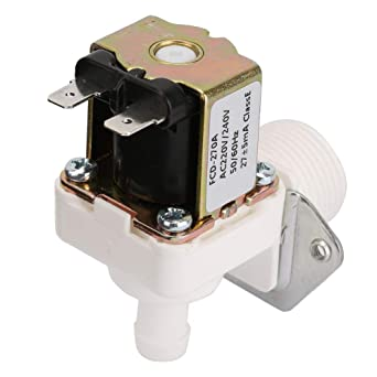 3 4 Plastic Solenoid Valve Water Inlet Valve Electromagnetic Valve N C Normally Closed Water Inlet Switch For Water Inlet Control Ac 220v Amazon Com Industrial Scientific