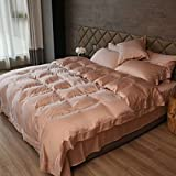 Bedspreads quilt Sheets Home textile Four-piece set Tencel Cotton Simple Solid color Reactive printing and dyeing luxurious High-end Comfortable Hotel ( Size : 1.5m )