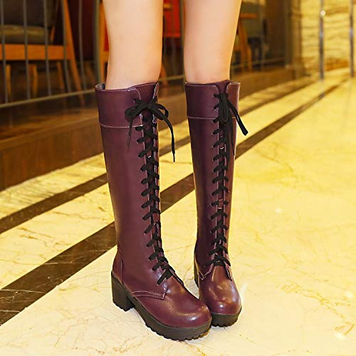 Red Eight Otoño AVBGT Rough Wine Big New e Blue Boots Boots Thirty Invierno 7w7qOg6v
