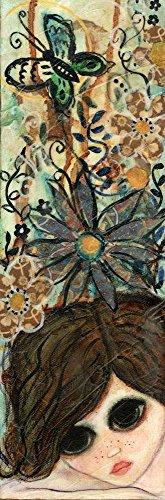 Big Eyed Girl Daydream Garden by Wyanne Art Print, 9 x 26 inches