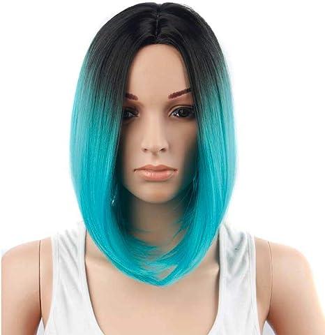 wig Bobo Head Gradient Pelo Corto y Corto para Mujer Peluca ...