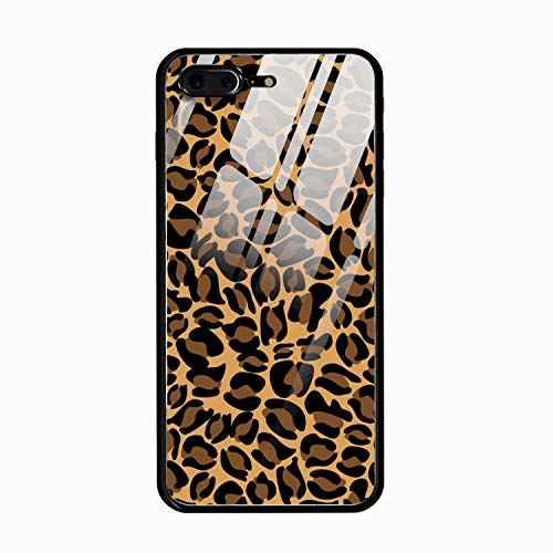 Leopard Grain Hard Ultra Thin Slim Case Anti-Scratch with [Tempered Mirror + Glossy Coating] Full Protective for iPhone - Grain Full Case Metal Jacket
