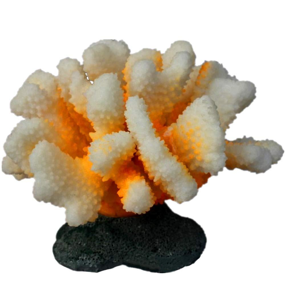 Danmu 1pc of Glowing Effect Artificial Coral Plant Ornament for Fish Tank Aquarium Decoration 3 7//10 x 3 1//3 x 2 9//10