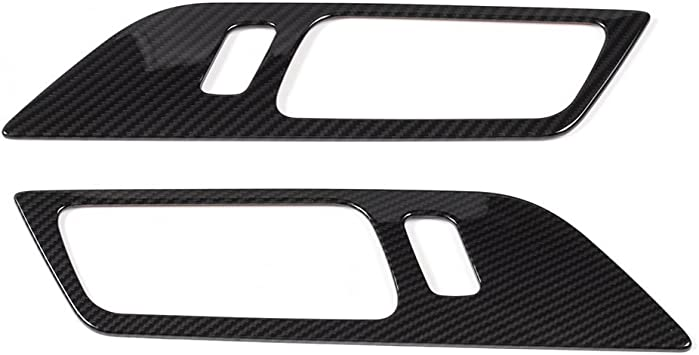 Carbon Fiber Interior Window Switch Panel Frame Cover For Ford Mustang 2015-2017