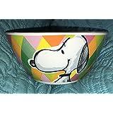Peanuts Stoneware Snoopy Festive Sketch Collection Bowl Diamonds