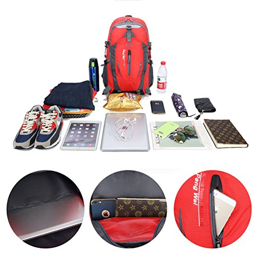 Laptop Rain Hiking 40l Yoome Backpack For Travel Compartment Weekend Waterproof amp; Camping Pack Orange Cover YzUxUq