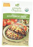 Simply Organic Southwest Taco, Seasoning Mix, Certified Organic, 1.13-Ounce Packets (Pack of 12)