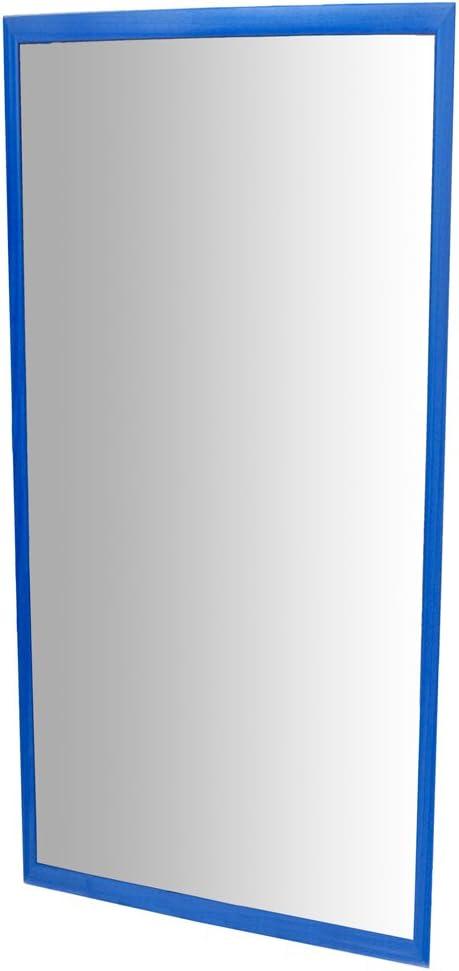 HenBea 755//B2 Miroir Incassable avec Cadre Plastique Bleu 120 x 65 x 7 cm