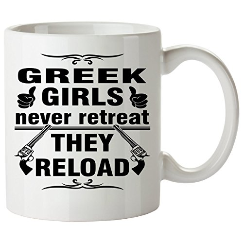 GREEK Coffee Mug 11 Oz - Good Gifts for Girls - Unique Coffee Cup - Decor Decal Souvenirs (Greek Philosopher Costume)