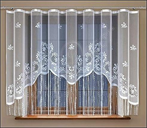 Amazon.de: String Netz Vorhänge Fertig Zum Aufhängen weiß 150 x 300 ...