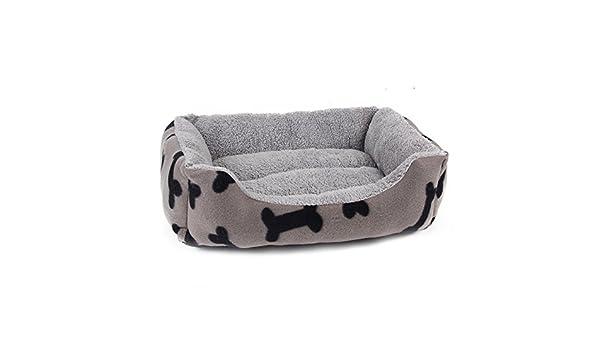 GR Impresión Simple del Hueso del Estilo Impresión Corta del Animal doméstico del rectángulo del Interior de la Felpa para los Perros pequeños, ...