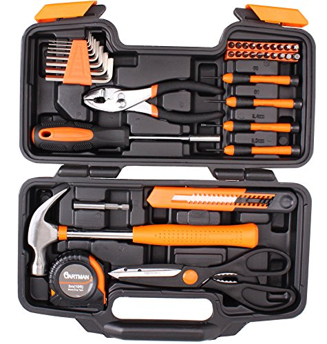 CARTMAN-Orange-39-Piece-Tool-Set-General-Household-Hand-Tool-Kit-with-Plastic-Toolbox-Storage-Case