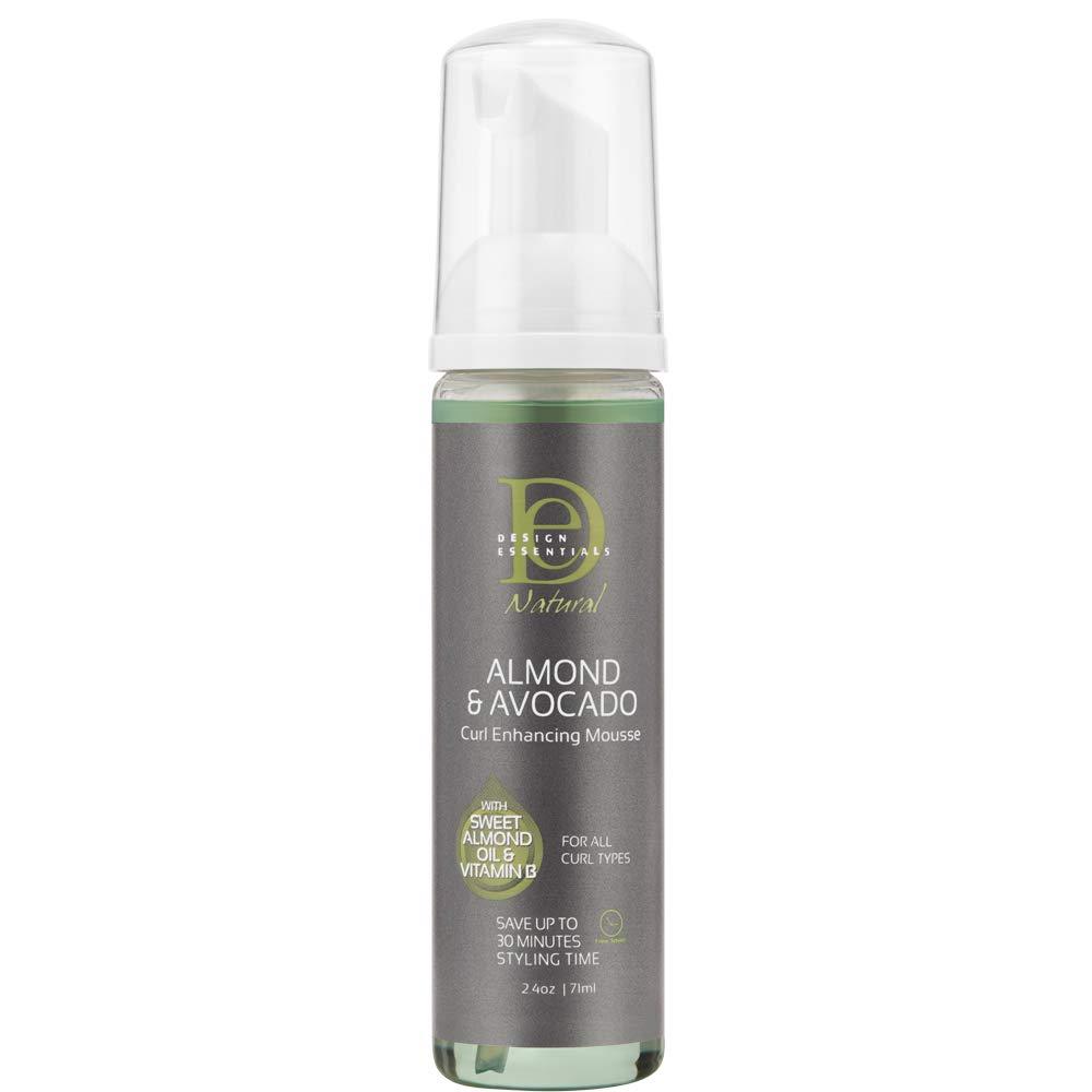 Design Essentials Almond & Avocado Natural Curl Enhancing Mousse, 2.3 Fl Oz