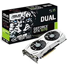 ASUS Dual GEFORCE GTX 1070 8GB OC Computer Graphics Card - PCI-E G-Sync 4K and VR Ready GPU