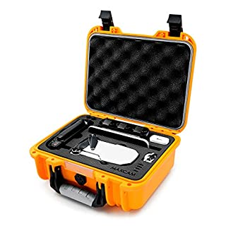 MAXCAM Orange Waterproof Hard Case Compatible for DJI Mavic Mini