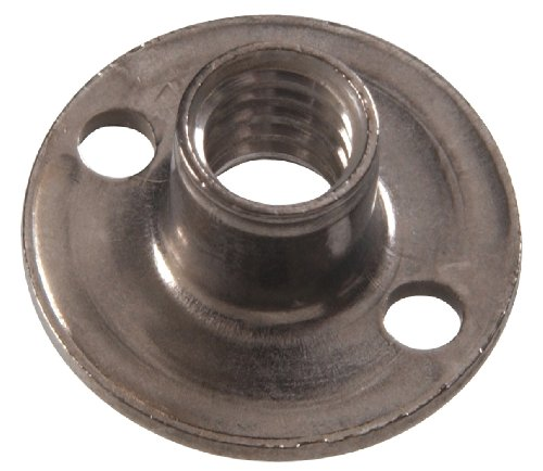 The Hillman Group The Hillman Group 4146 3/8-16 x 7/16 x 1 In. Stainless Steel Round Base Tee Nut (8-Pack) by Hillman